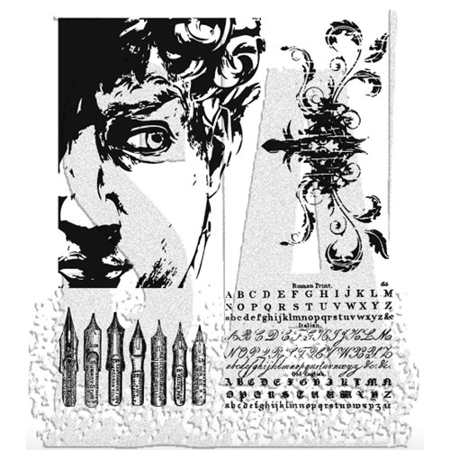Tim Holtz Cling Rubber Stamps ARTFUL ARTIFACTS CMS080 Preview Image