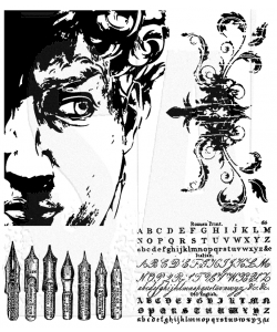 Tim Holtz Cling Rubber Stamps ARTFUL ARTIFACTS Stampers Anonymous CMS080*