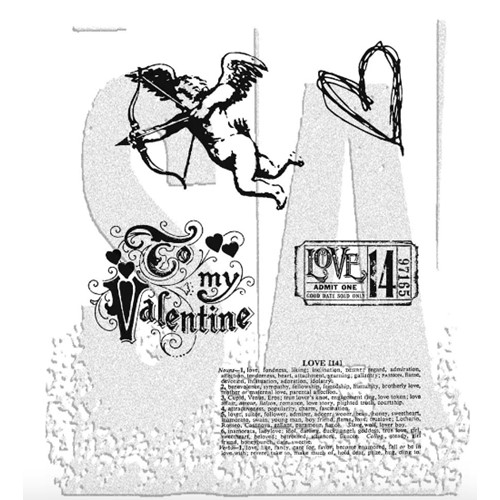 Tim Holtz Cling Rubber Stamps LOVE STRUCK Valentine CMS082 Preview Image
