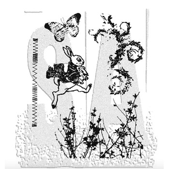 Tim Holtz Cling Rubber Stamps SPRING SPRUNG Easter CMS084