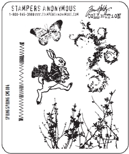 Tim Holtz Cling Rubber Stamps SPRING SPRUNG Easter CMS084 zoom image