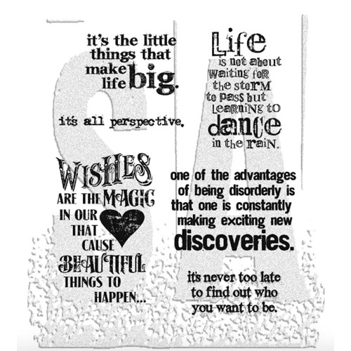 Tim Holtz Cling Rubber Stamps GOOD THOUGHTS CMS085 Preview Image