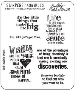Tim Holtz Cling Rubber Stamps GOOD THOUGHTS Stampers Anonymous CMS085 zoom image