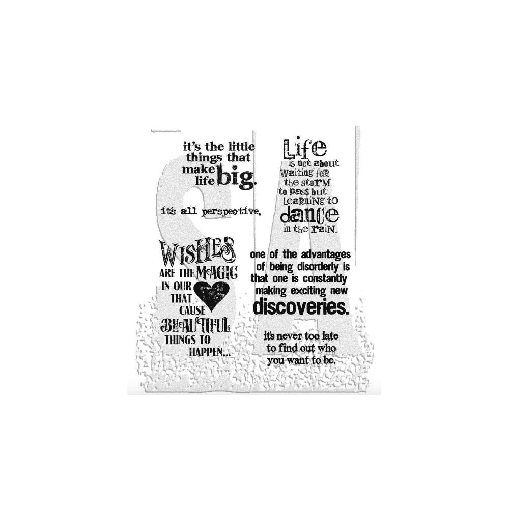 Tim Holtz Cling Rubber Stamps GOOD THOUGHTS CMS085 zoom image