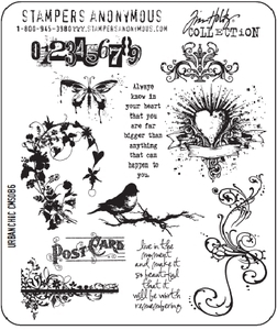 Tim Holtz Cling Rubber Stamps URBAN CHIC cms086