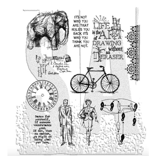 Tim Holtz Cling Rubber Stamps PURELY RANDOM CMS088 Preview Image