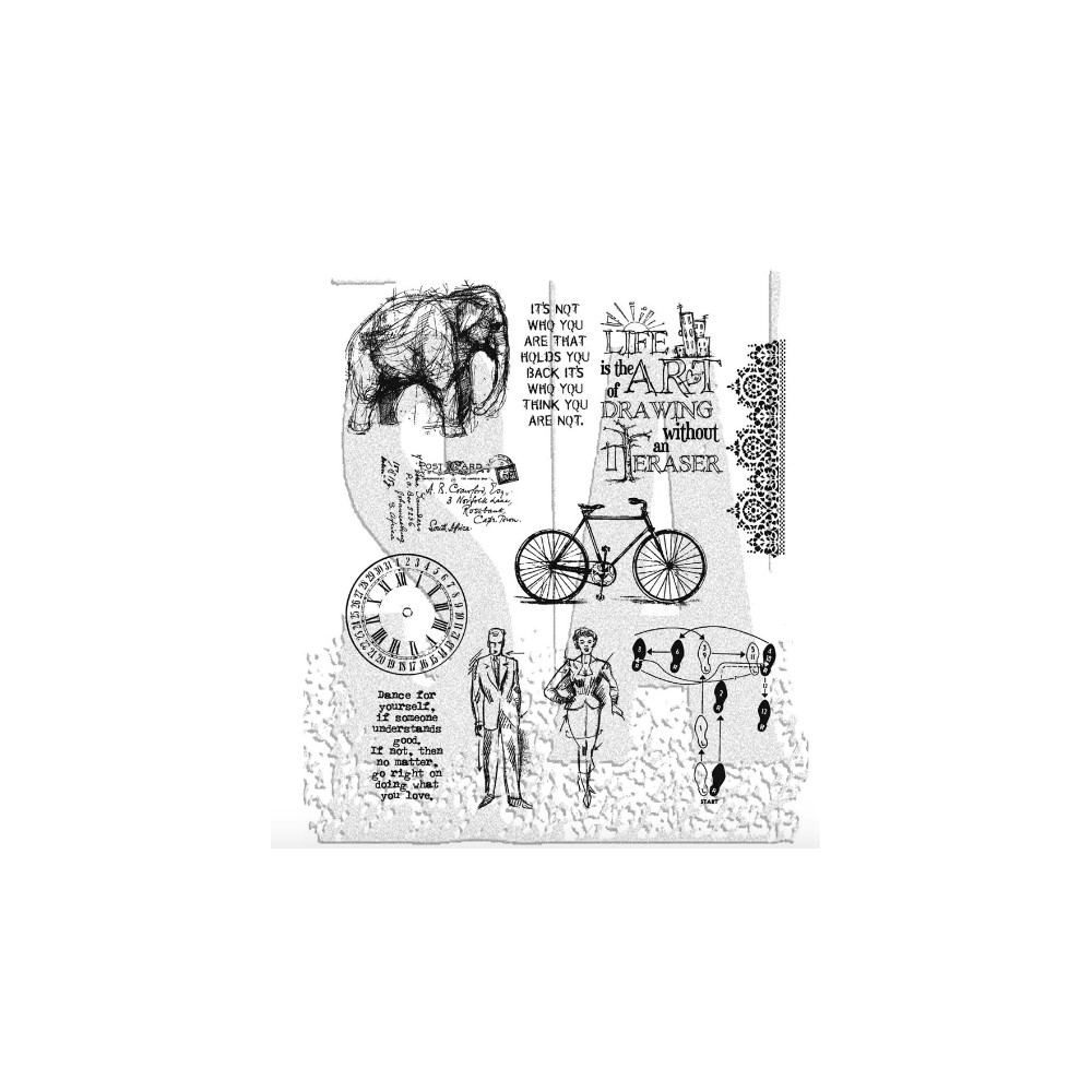 Tim Holtz Cling Rubber Stamps PURELY RANDOM CMS088 zoom image