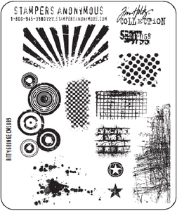 Tim Holtz Cling Rubber Stamps BITTY GRUNGE Stampers Anonymous CMS089 Preview Image