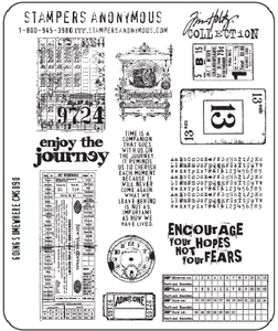 Tim Holtz Cling Rubber Stamps GOING SOMEWHERE Stampers Anonymous CMS090