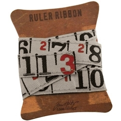 Tim Holtz Idea-ology RULER RIBBON Fabric Canvas Measure TH92830