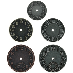 Tim Holtz Idea-ology TIMEPIECES Metal Watch Clock Face TH92831