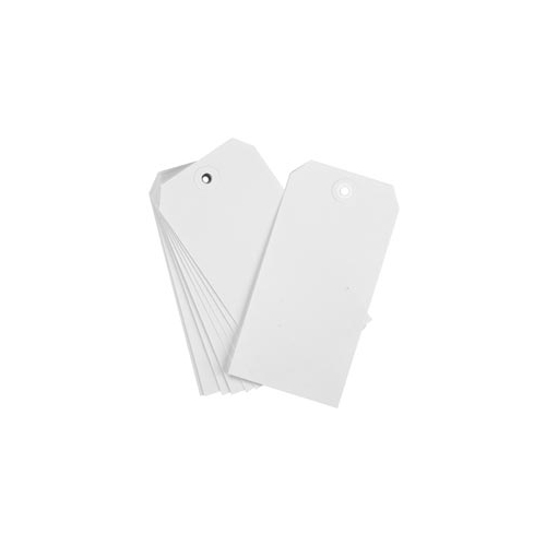 WHITE TAGS #8 Pack of 15 21318 zoom image