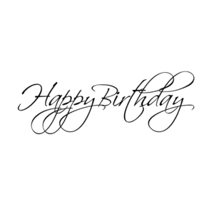 Penny Black Rubber Stamp FLOURISH BIRTHDAY 4071F zoom image