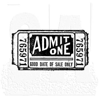 Tim Holtz Rubber Stamp MOVIE TICKET G2-1525 *