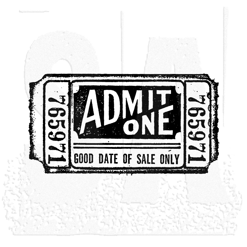 Tim Holtz Rubber Stamp MOVIE TICKET G2-1525 * zoom image