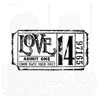 Tim Holtz Rubber Stamp LOVE TICKET G2-1529