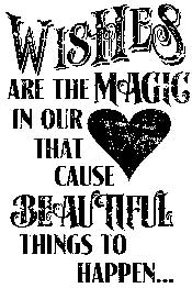 Tim Holtz Rubber Stamp WISHES Stampers Anonymous M1-1548
