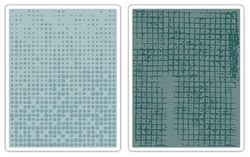Tim Holtz Sizzix DOT MATRIX & GRIDLOCK Texture Fades Embossing Folders 656649 Preview Image