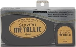 Tsukineko Stazon METALLIC GOLD Ink Pad and Refill SZ-000-191