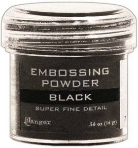 Ranger Embossing Powder SUPER FINE BLACK Detail EPJ37392