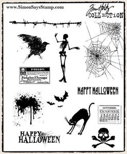 Tim Holtz Cling Rubber Stamps MINI HALLOWEEN cms093 Preview Image