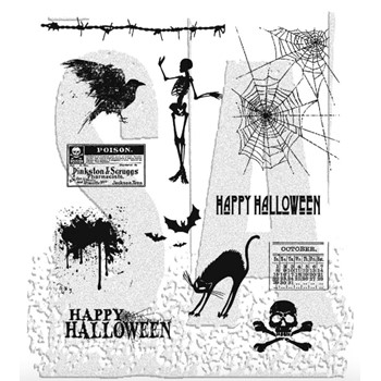 Tim Holtz Cling Rubber Stamps MINI HALLOWEEN cms093