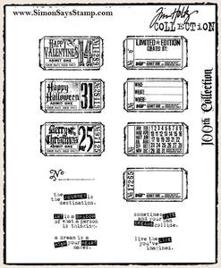 Tim Holtz Cling Rubber Stamps ODDS AND ENDS 100th Set cms100