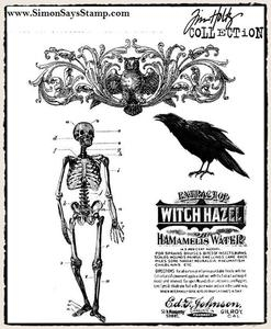 Tim Holtz Cling Rubber Stamps HAUNTED MANSION cms091 Preview Image