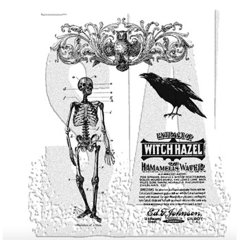 Tim Holtz Cling Rubber Stamps HAUNTED MANSION cms091