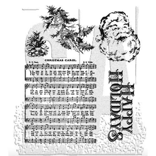 Tim Holtz Cling Rubber Stamps HOLIDAY WISHES cms095 Preview Image