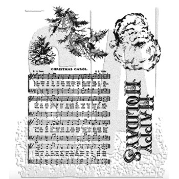 Tim Holtz Cling Rubber Stamps HOLIDAY WISHES cms095