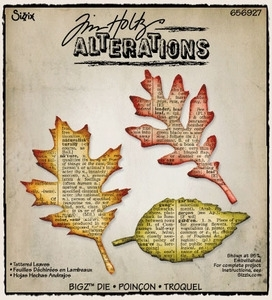 Tim Holtz Sizzix Die TATTERED LEAVES Bigz Alterations 656927
