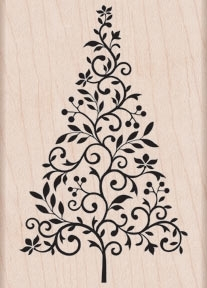 Hero Arts Rubber Stamp BRANCH AND FLOURISH TREE k5445* Preview Image