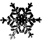 Tim Holtz Rubber Stamp SNOWFLAKE 3 Three H2-1586 Stampers Anonymous Preview Image