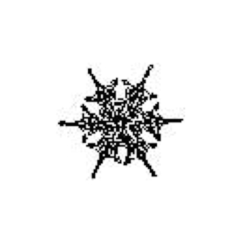 Tim Holtz Rubber Stamp SNOWFLAKE 6 Six C1-1568 Stampers Anonymous