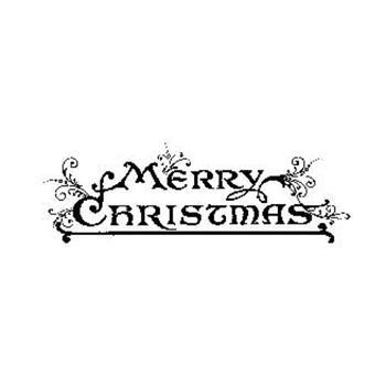 Tim Holtz Rubber Stamp MERRY CHRISTMAS J3-1570