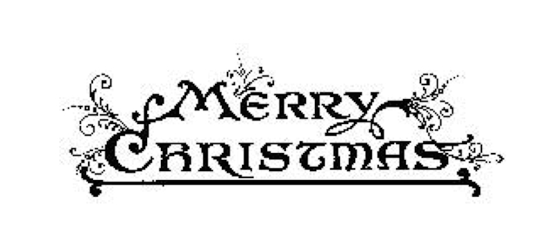 Tim Holtz Rubber Stamp MERRY CHRISTMAS J3-1570 zoom image
