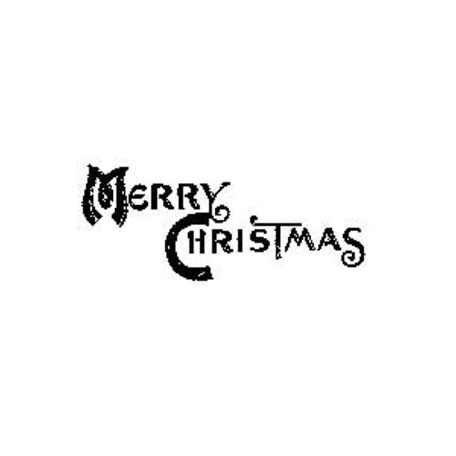 Tim Holtz Rubber Stamp MINI CHRISTMAS Merry J5-1571 Stampers Anonymous Preview Image