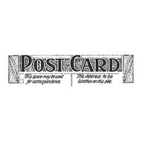 Tim Holtz Rubber Stamp POSTAGE 6 Six E3-1593 * Preview Image