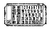 Tim Holtz Rubber Stamp CALENDAR TICKET G2-1606
