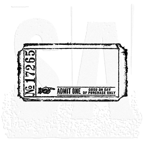 Tim Holtz Rubber Stamp BLANK TICKET G2-1605 g2-1605 Preview Image
