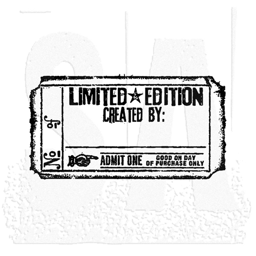 Tim Holtz Rubber Stamp LIMITED EDITION TICKET G2-1609 Stampers Anonymous Preview Image