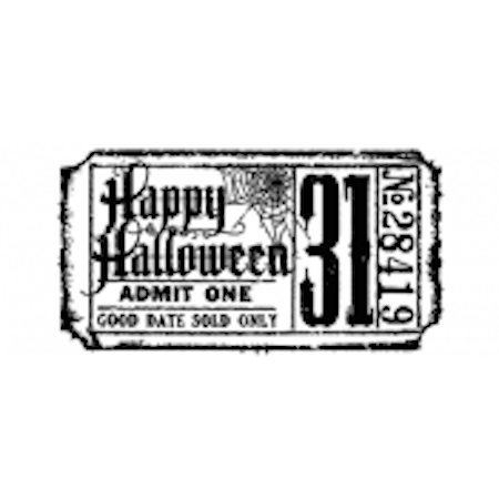 Tim Holtz Rubber Stamp HALLOWEEN TICKET G2-1608 Stampers Anonymous Preview Image