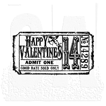 Tim Holtz Rubber Stamp VALENTINE'S TICKET G2-1610 Stampers Anonymous