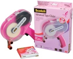 3M Scotch PINK ATG ADVANCED TAPE GLIDER .25 Inch Adhesive Glue Gun CAT 085 Preview Image