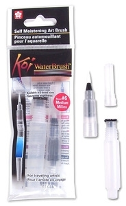 Sakura KOI MEDIUM WATERBRUSH Water Brush Watercolor #6 xqr-m zoom image