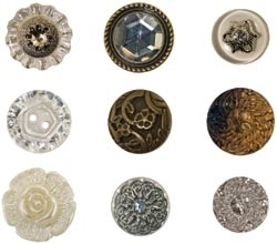 Tim Holtz Idea-ology FANCIFUL BUTTONS Accoutrements th92873*
