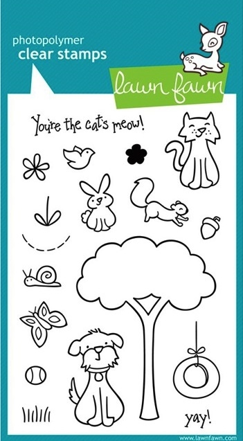 Lawn Fawn CRITTERS IN THE 'BURBS Clear Stamps zoom image