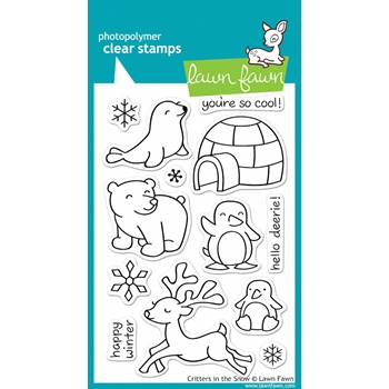 Lawn Fawn CRITTERS IN THE SNOW Clear Stamps