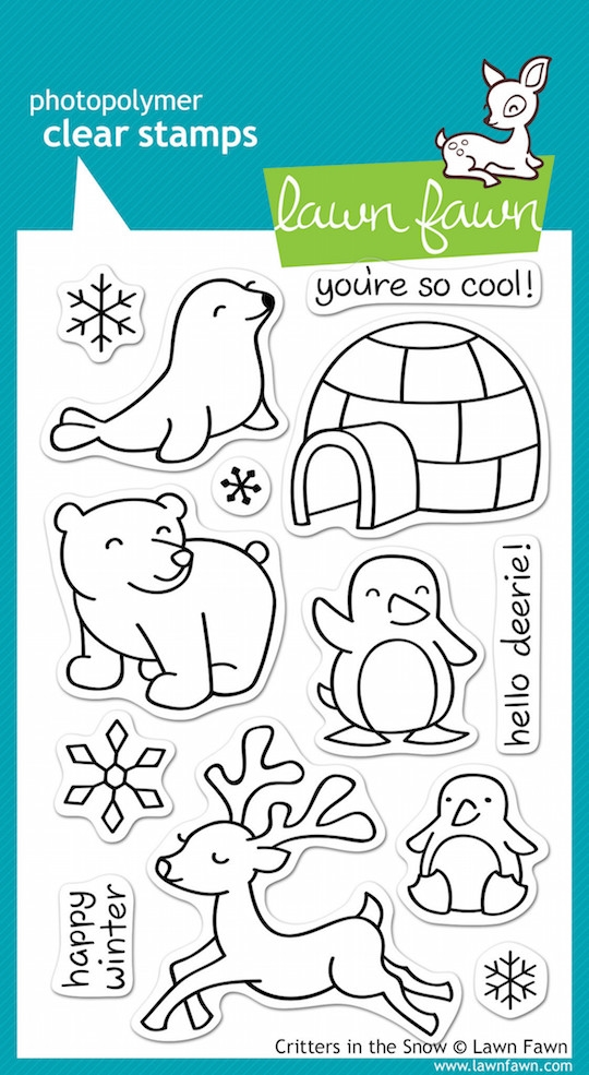 Lawn Fawn CRITTERS IN THE SNOW Clear Stamps* zoom image